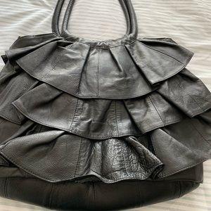 Large ruffle purse